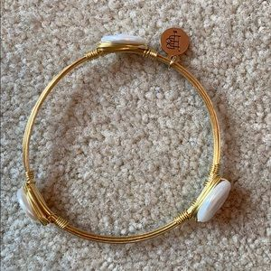 Bourbon & Bow ties pearl bangle/ bracelet